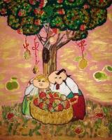 "Art tmbroidered ""Apple Saviour"""