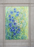 "Interior Canvas ""Cornflower Field"""