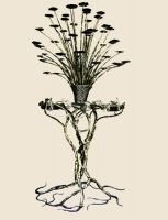 "Wrought-iron Candlestick ""Fire Tree"""