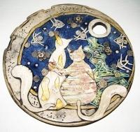 "Decorative Plate ""He-she"""