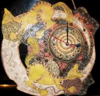 "Wall Clock ""Playful Cats"""