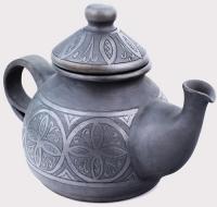 """Чайник керамический """"Цветок папоротника"""""""