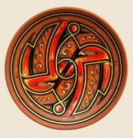 "Decorative Plate ""Chaos"""