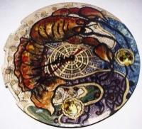 """Ceramic Clock """"Crayfish"""""""